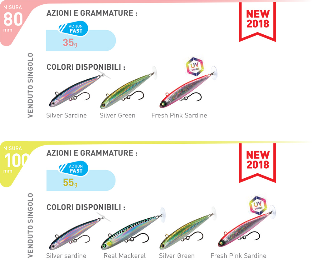 Fiiish Power Tail Saltwater colors